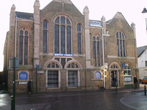 Front of SBC church
